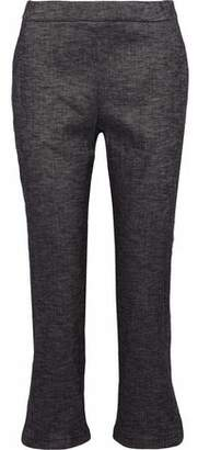 Theory Linen-Blend Flared Pants