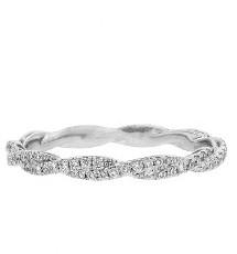 Hidalgo Twisted Diamond Band - White Gold