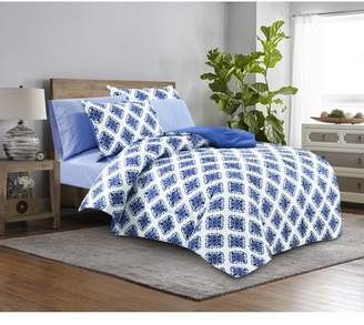 Mainstays Blue Medallion Bed in a Bag Complete Bedding Set