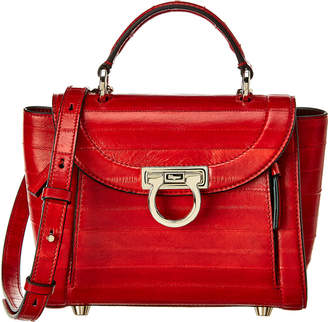 Salvatore Ferragamo Sofia Rainbow Leather Satchel