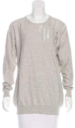 Stella McCartney Distressed Cashmere-Blend Sweater