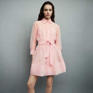 Maje Organza shirt dress