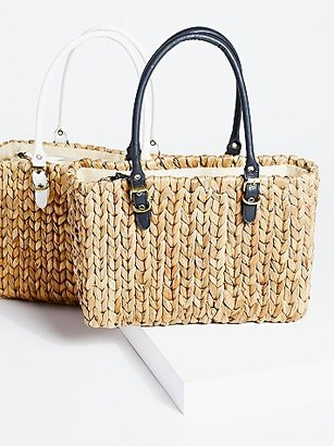 St. Barts Straw Tote by Straw Studios at Free People $58 thestylecure.com