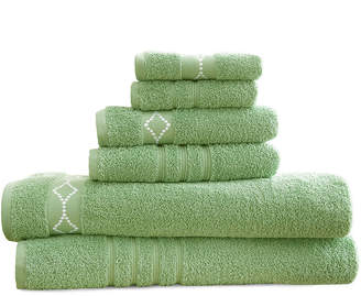 Asstd National Brand Diamond Embroidered Egyptian Cotton 6-pc. Towel Set