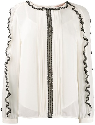 Twin-Set lace trim blouse