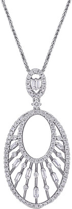 Diamond Select Cuts 14K 1.00 Ct. Tw. Diamond Drop Pendant Necklace