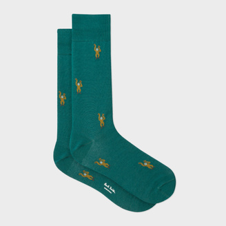 Men's Green Monkey Motif Socks $30 thestylecure.com