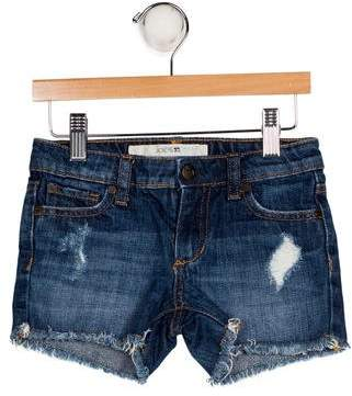 Joe's Jeans Girls' Denim Distressed Shorts