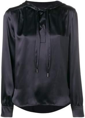 Luisa Cerano sheen hooded blouse