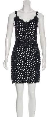 Dolce & Gabbana Lace-Accented Polka Dot Dress