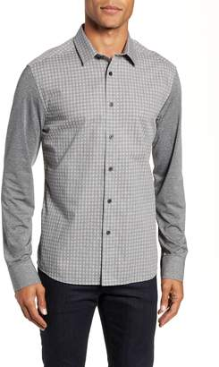 Vince Camuto Slim Fit Mixed Media Sport Shirt