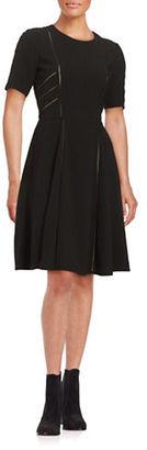 Taylor Cutout Short-Sleeve A-Line Dress $148 thestylecure.com