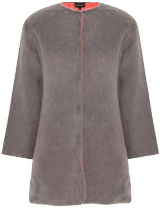 Emporio Armani Mohair Reversible Coat