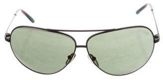 Missoni Metallic Aviator Sunglasses