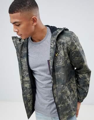 Lyle & Scott lightweight zip-thru jacket in abstract camo
