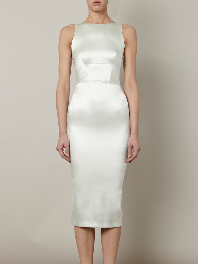 Rochas Satin fitted dress