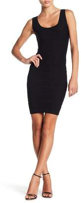 Bebe Textured Scoop Neck Bodycon Dress