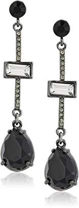 "Carolee Midnight Tower"" Pave Stick Linear Drop Earrings"
