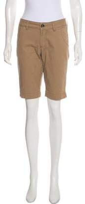 Christopher Blue Mid-Rise Knee-Length Shorts