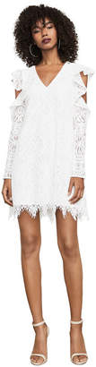BCBGMAXAZRIA Marian Cold-Shoulder Lace Dress