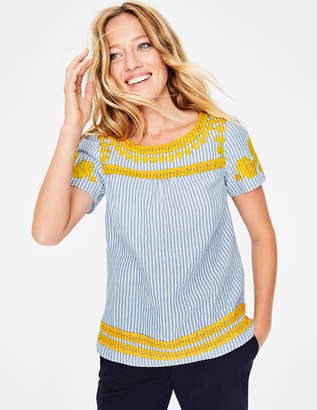 Boden Fiona Embroidered Top