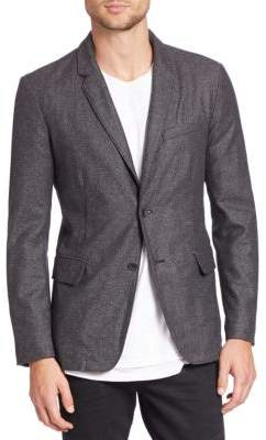 Rag & Bone Solid Blended Wool Blazer