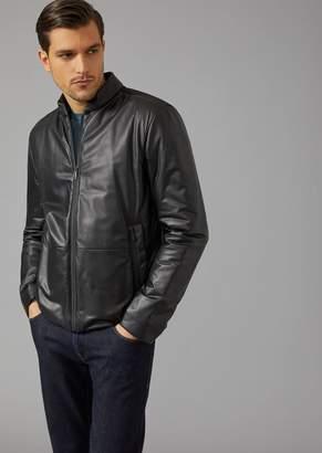 Giorgio Armani Jacket In Padded Nappa Leather