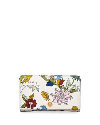 Tory Burch Robinson Floral Chain Wallet