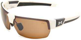 Under Armour Eyewear Drive Satin White Frame with Charcoal Gray Rubber and Brown Multiflection Lens
