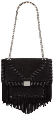 Claudie Pierlot Leather Fringed Bag