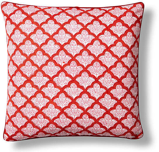 Jemina Cotton Pillow Cover - Red - Roller Rabbit - 26