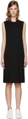 T by Alexander Wang Black Overlap Dress $150 thestylecure.com
