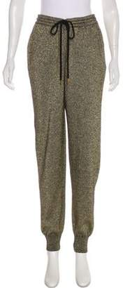 Markus Lupfer Wool High-Rise Joggers Gold Wool High-Rise Joggers