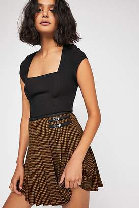 Sweet And Sassy Pleated Herringbone Skirt