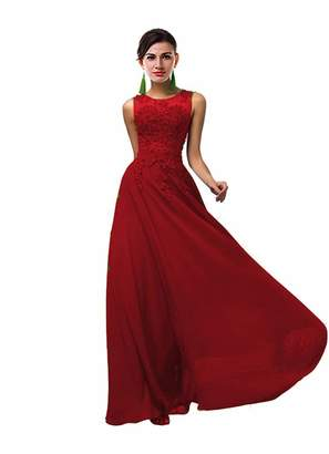 ThaliaDress Women Long Sheer Neck Evening Bridesmaid Dresses Prom Gowns T004LF US