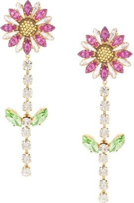 Shourouk flower drop earrings