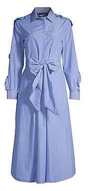 Max Mara Women's Canon Bow-Waist Striped Shirtdress