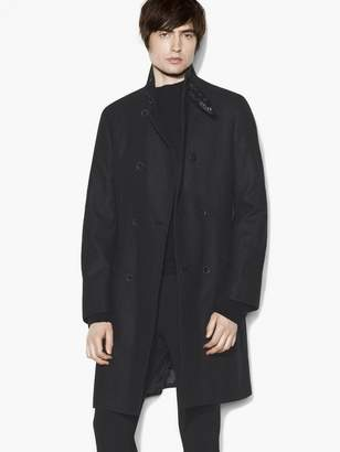 John Varvatos Double Breasted Wool Coat