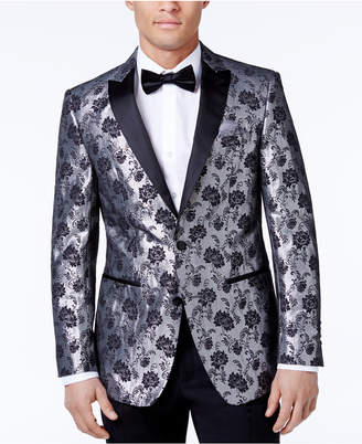 Tallia Men's Slim-Fit Floral Metallic Dinner Jacket $350 thestylecure.com