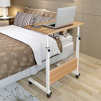 Ktaxon Side Tabl Adjustable Movable w/Wheels Portable Laptop Stand for Bed Sofa