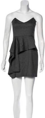 Mason Strapless Peplum Dress