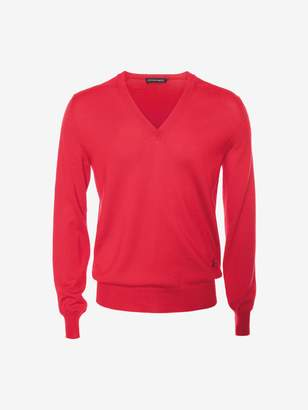 Alexander McQueen Sketch Signature V-Neck Sweater