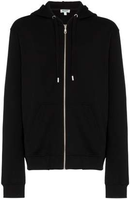 Kenzo tiger embroidered zip cotton hoodie