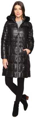 Marc New York by Andrew Marc - Julia 37 Laquer Puffer Faux Fur Coat Women's Coat $198 thestylecure.com