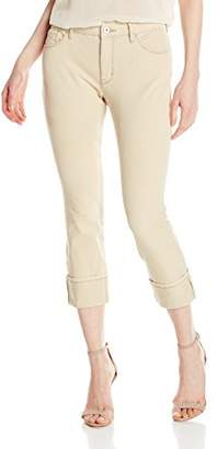 Miraclebody Jeans Miracle Body Women's Promise Roll Cuff Crop Jean with Tummy Control Technology