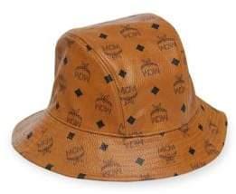 MCM Men's Collection Visetos Bucket Hat - Cognac