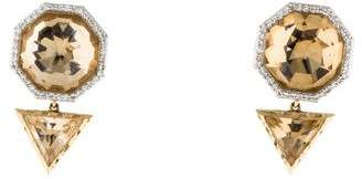 Phillips House 14K Rock Crystal & Diamond Drop Earrings