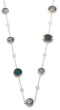 Coomi Silver Women's Coin Diamond, Crystal, 20K Yellow Gold & Sterling Silver Station Necklace