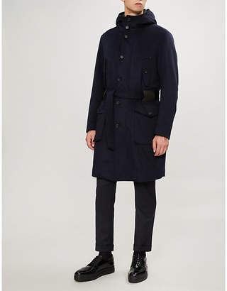 Corneliani CC Collection waist-tie wool overcoat