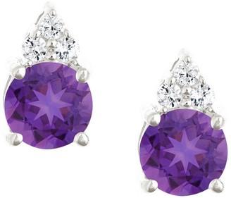 Premier 1.10cttw Round Amethyst & Diamond Earring, 14K